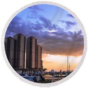 Florida Highrise Round Beach Towel