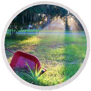 Florida Home Round Beach Towel
