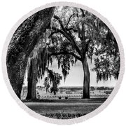 Florida Interior From Bok Gardens Round Beach Towel