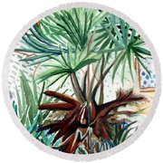 Florida Palm Round Beach Towel