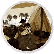 Florida Pioneers 1800s Round Beach Towel