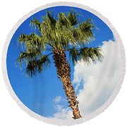 Florida State Tree Round Beach Towel