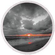 Florida Sunset Round Beach Towel
