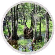 Florida Swamp Round Beach Towel