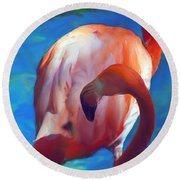 Florida's Flamingo's Round Beach Towel