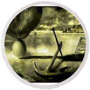 Flotsam And Jetsam Round Beach Towel