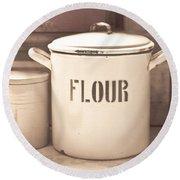 Flour Tin Round Beach Towel