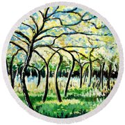 Flourish Round Beach Towel