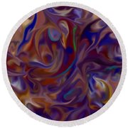 Flow In Chaos Round Beach Towel