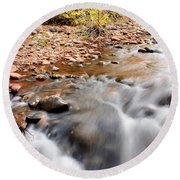 Flow In Sedona Round Beach Towel