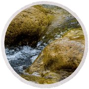 Flow Through And Eddy Round Beach Towel