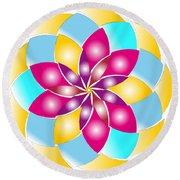 Flower 1317 - Abstract Art Print - Fantasy - Digital Art - Fine Art Print - Flower Print Round Beach Towel