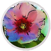 Flower 8-15-09 Round Beach Towel