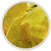 Flower, A Soul Blossoming In Nature Round Beach Towel
