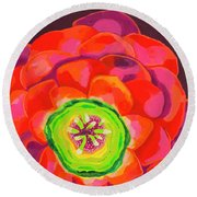 Flower Blossom Round Beach Towel