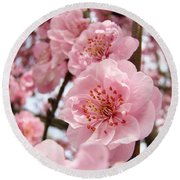 Flower Blossoms Art Spring Trees Pink Blossom Baslee Troutman Round Beach Towel