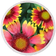 Flower Burst Round Beach Towel