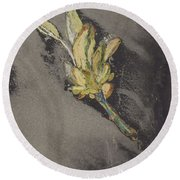 Flower, Carel Adolph Lion Cachet, 1874 - 1945 Round Beach Towel