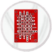 Flower Chess Round Beach Towel