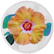 Flower Delight Round Beach Towel