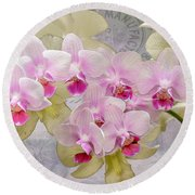Flower-d Round Beach Towel