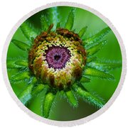 Flower Eye Round Beach Towel