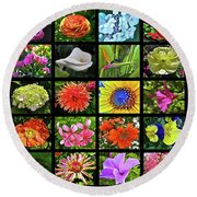 Flower Favorites Round Beach Towel