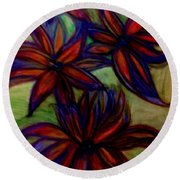 Flower Flower Round Beach Towel