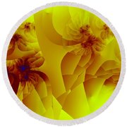 Flower Formations Round Beach Towel