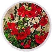 Flower Garden 11 Round Beach Towel