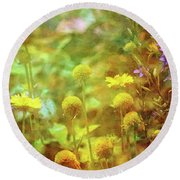 Flower Garden 1310 Idp_2 Round Beach Towel