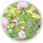 Flower Garden Bouquet Round Beach Towel