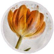 Flower - Id 16235-142750-0708 Round Beach Towel