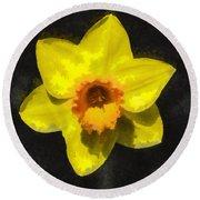 Flower - Id 16235-220300-0389 Round Beach Towel