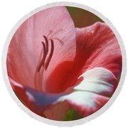 Flower In Pink Pastel Round Beach Towel