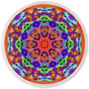 Flower Mandala 4 Round Beach Towel