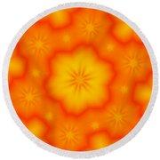 Flower Mandala 5 Round Beach Towel