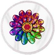 Flower Mandala 6 Round Beach Towel