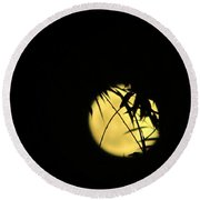 Flower Moon 05 03 15 Round Beach Towel