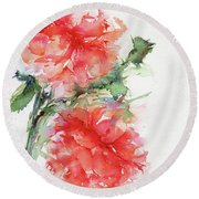 Flower Of My Dreams Round Beach Towel