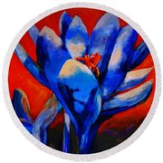 Flower Of My Heart Round Beach Towel