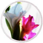 Flower Power 7 Round Beach Towel