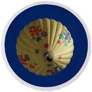 Flower Power Balloon Round Beach Towel