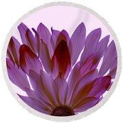 Flower Rise- Lavender Round Beach Towel