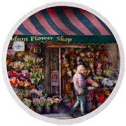 Flower Shop - Ny - Chelsea - Hudson Flower Shop  Round Beach Towel