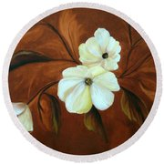 Flower Study Round Beach Towel