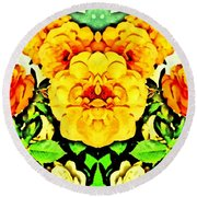 Flower Teddy Round Beach Towel