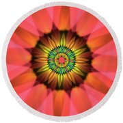 Flower Translucent 14 Round Beach Towel