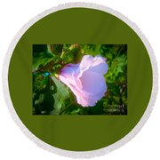 Flower With Painted Look Round Beach Towel