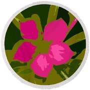 Flower Work Number 17 Round Beach Towel
